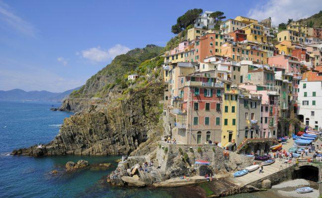 Riomaggiore. Villages on coast of La Spezia